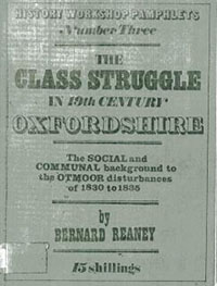 The Class Struggle in 19th Century Oxfordshire